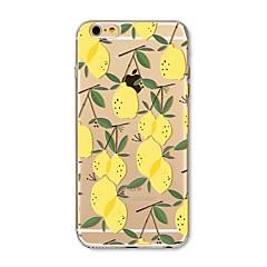 Θήκη για iphone 7 plus 7 κάλυψη διαφανές μοτίβο πίσω κάλυψης πλακιδίων φρούτα πλακιδίων λεμόνι μαλακό tpu για apple iphone 6s plus 6 plus