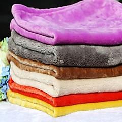 Köpek Yataklar Evcil Hayvanlar Battaniye Solid Sıcak Katlanabilir Miękki Herhangi Bir Renk