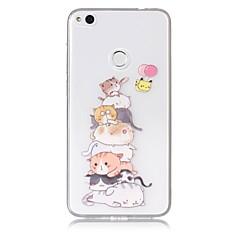 Tok a huawei p10 lite p8 lite (2017) telefonos tok tpu anyag macska minta festett telefonos tok p9 lite p8 lite