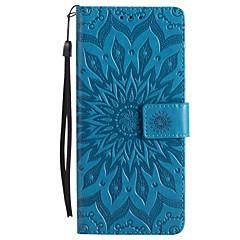 til kuffert kortholder lommebok med stativ flip præget fuld krops sag blomst hårdt pu læder til Sony Sony Xperia XZ Sony Xperia x