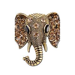 Erkek Kadın's Broşlar Yapay Elmas Hayvan Tasarımı Kişiselleştirilmiş Yapay Elmas Gümüş Kaplama Fil Mücevher Uyumluluk Sahne