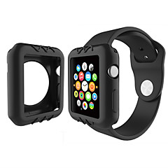 do zegarków jabłkowych seria 1 kolorowa obudowa silikonowa osłona 38mm 42mm
