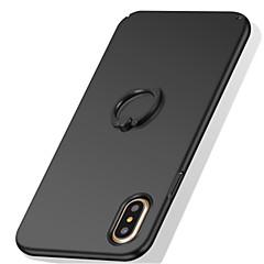 Na iPhone X iPhone 8 iPhone 8 Plus iPhone 7 Etui Pokrowce Uchwyt pierścieniowy Szron Etui na tył Kılıf Solid Color Twarde PC na Apple
