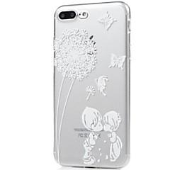 na okładkę super cienką przeźroczystą obudowę tylną okładkę motyl dandelion miękki tpu dla jabłka iphone x iphone 8 plus iphone 8