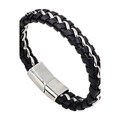 Herre Dame Læder Armbånd Mode minimalistisk stil Læder Legering Rund form Smykker Til Afslappet I-byen-tøj
