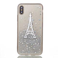 Voor iPhone X iPhone 8 iPhone 8 Plus Hoesje cover Patroon Achterkantje hoesje Eiffeltoren Zacht Siliconen voor Apple iPhone X iPhone 7s