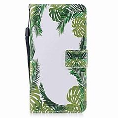 Til iPhone 7 iPhone 7 Plus Etuier Pung Kortholder Flip Mønster Magnetisk Heldækkende Etui Træ Hårdt Kunstlæder for Apple iPhone 7 Plus