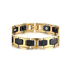 Heren Armbanden met ketting en sluiting Bangles Multi-steen Natuur Modieus Titanium Staal Cirkelvorm Sieraden Sieraden Voor Dagelijks