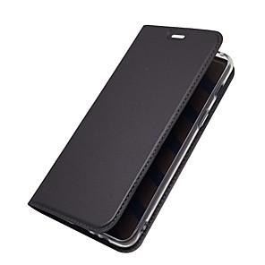 Custodia Per Samsung Galaxy A8 2018 / A7 (2018) Porta-carte di credito / Con supporto / Con chiusura magnetica Integrale Tinta unita Resistente pelle sintetica per A5(2018) / A7(2018) / A3 (2017)