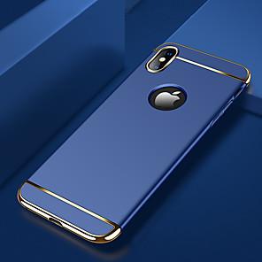 tok Για Apple iPhone X / iPhone XS Max Επιμεταλλωμένη Πίσω Κάλυμμα ΜονόχÏωμο ΣκληÏή PC για iPhone XS / iPhone XR / iPhone XS Max