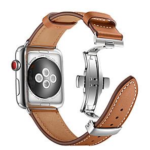 Cinturino per orologio per Apple Watch Series 4/3/2/1 Apple fibbia a farfalla Vera pelle Custodia con cinturino a strappo