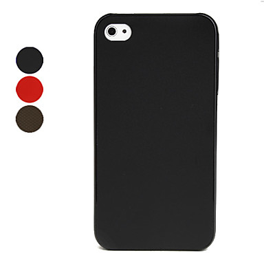 0.5mm Ultra-Thin Protective Back Case for iPhone 4/4S - Matt Coating/Different Colors Available