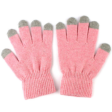 Warm Woolen Pure Color Touch Screen Gloves for iPhone, iPad and More
