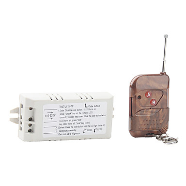 110V-220V 315MHz Single Chanel Remote Control Switch Receiver and 2-Key Transmiter