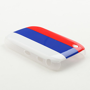 Russia Flag Pattern Protective Case for Blackberry 8520 and 8530
