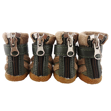 wholesale Classical Soft and Warm Style Velcro and Zipper Boots for Dogs (4-Piece,Assorted Color,XS-XL) - 7735.com