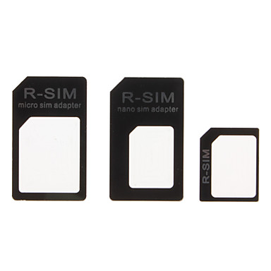 Micro Sim and Nano Sim Adapter for iPhone 4 ,iPhone 4S and iPhone 5 (Black)