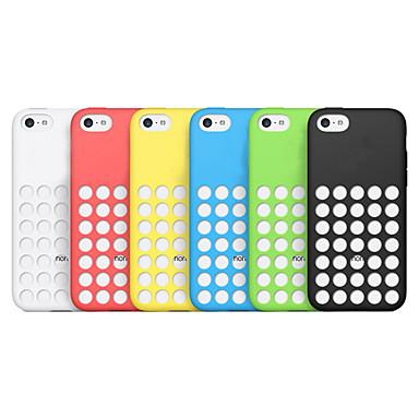 dot hollow out soft solid color back case for iphone 5c. Black Bedroom Furniture Sets. Home Design Ideas