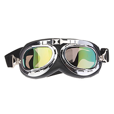 Universal Chrome Lenses UV ATV Helmet Goggles for Motorcycle (Assorted Colors)