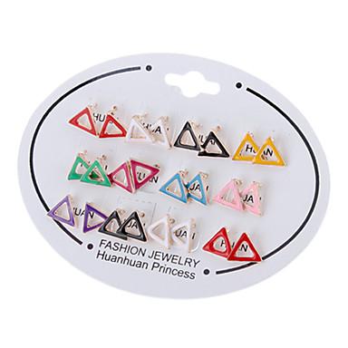 Hollow треугольник уха Серьги (Random Color)