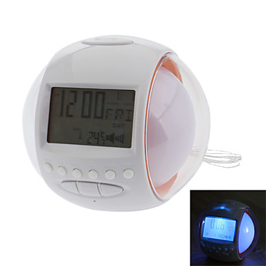 2 5 ball shape lcd digital alarm clock with fm radio. Black Bedroom Furniture Sets. Home Design Ideas