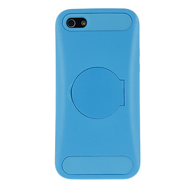 Solid Color Hard Case with Mirror Stand and Silicone Inside Cover for iPhone 5C (Assorted Colors)