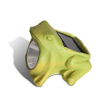 Ландшафтный дизайн участка с помощью лягушки-фонарика на солнечных батареях и других фигурок, ламп