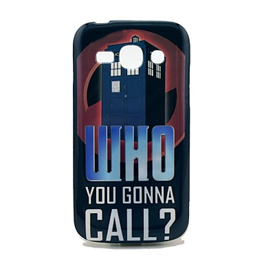 Who You Gonna Call Pattern TPU Soft Back Cover Case for Samsung Galaxy Ace 3 S7272