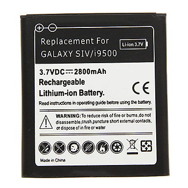 2800mAh Cell phone Battery Black for Samsung Galaxy SIV/i9500(2pcs) with Charger