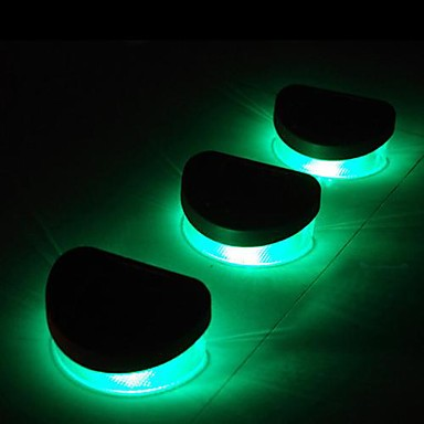 Luces 6pcs 2led verde solares pared de la escalera for Luces solares exterior