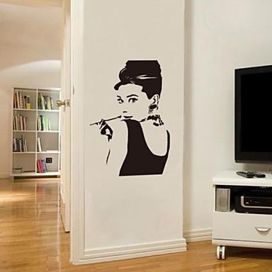 Jiubai audrey hepburn sticker mural d calque de mur de for Decalque mural