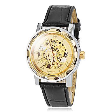 Мужские часы GOER Skeleton silver - купить по лучшей