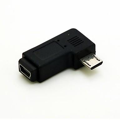 im rechten winkel von 90 grad mikro usb stecker auf mini usb buchse verl ngerung adapter. Black Bedroom Furniture Sets. Home Design Ideas