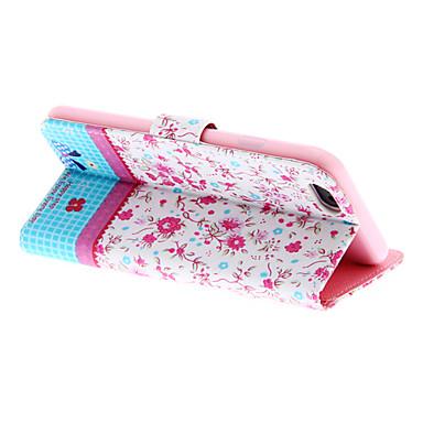 Rose Blumen und Bowknot-PU-Leder-Abdeckung mit Standplatz und Einbauschlitz für iPhone 6