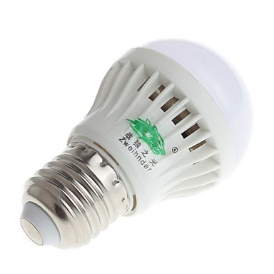 3W E26/E27 Lâmpada Redonda LED A50 11 SMD 3528 280-300 lm Branco Natural Deco...