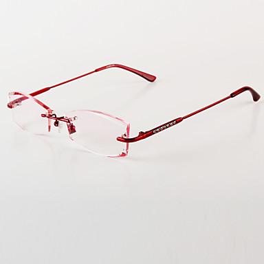 [Free Lenses] Womens Titanium Alloy Rectangle Rimless ...