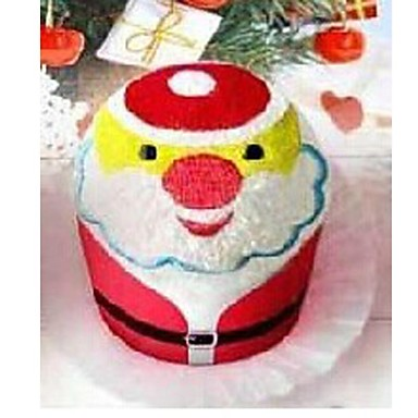 Birthday Gift Santa Clause Shape Fiber Creative Towel (Random Color)  #02077110