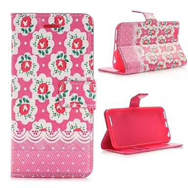 Das Rote Rosen-Muster PU-Leder Ganzkörper-Fall mit TPU-Abdeckung für iPhone 6