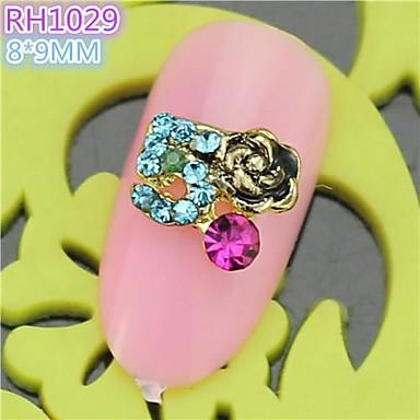 10st rh1029 speciale ontwerp luxe strass 3d legering nail art diy nagel schoonheid nagel - Decoratie murale ontwerp salon ...