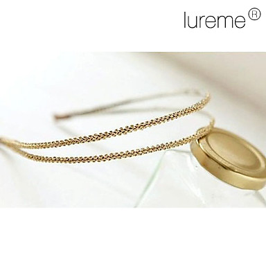 Lureme®Korea Style Beautiful silk knitting double Headband(Random Color)