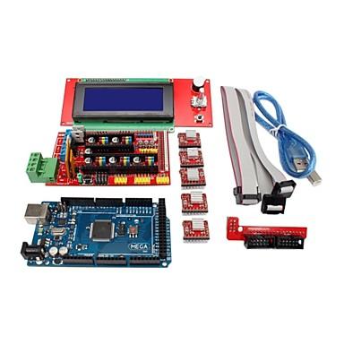 3D Printer Controller RAMPS 1.4 + Mega2560 R3 + 5 x A4988 + 2004LCD Controller Board for 3D Printer