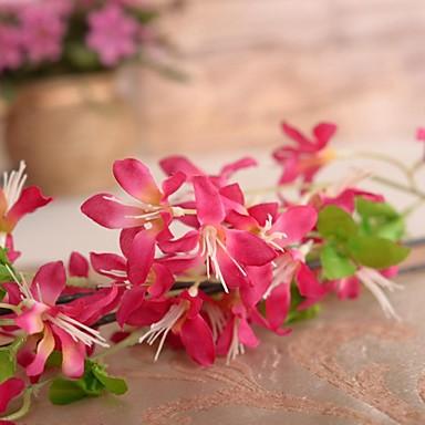 Une succursale soie plastique plantes fleur de table for Fleurs artificielles tissu