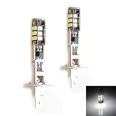 Hj h1 5w 450lm 5500 6000k 15x2835 smd led wit licht lamp for Led autolampen