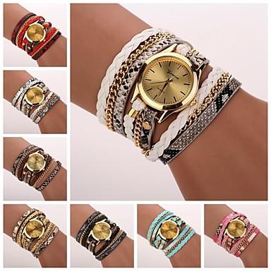 Women's Leopard Grain Woven Luxury Brand Strap Watch Quartz Wristwatch Watches C&D-120 Cool Watches Unique Watches Fashion Watch