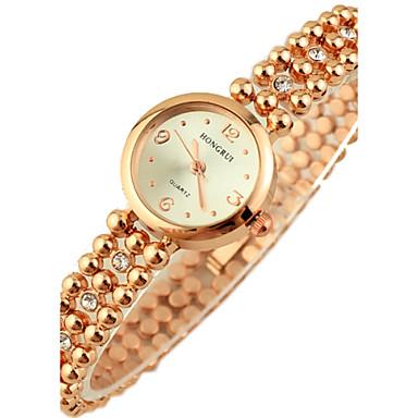 femme montre habill e bracelet de montre quartz imitation de diamant plaqu or rose alliage. Black Bedroom Furniture Sets. Home Design Ideas