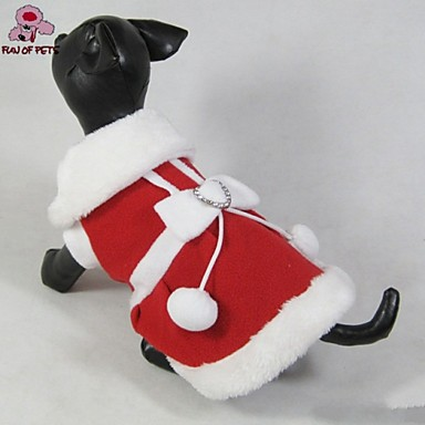 FUN OF PETS Dog Christmas Clothes New 2015 Lovely Santa's Costume for Dogs Puppies Clothing (Assorted Sizes)