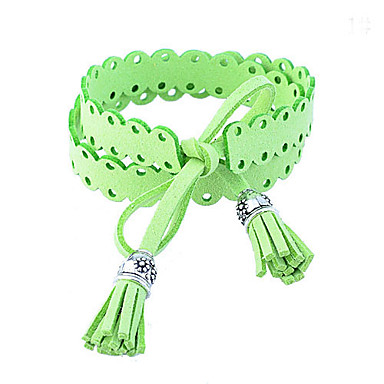 Korean Sweet Lovely Double-Faced Pile Tassels Bracelet
