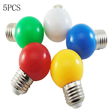 5pcs led light bulb color e27 1w 100lm small light bulb. Black Bedroom Furniture Sets. Home Design Ideas