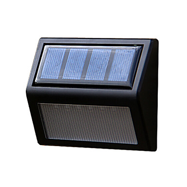 Solar Power Panel 6 LEDs Wall Lobby Pathway Fence Light Home Outdoor Garden L