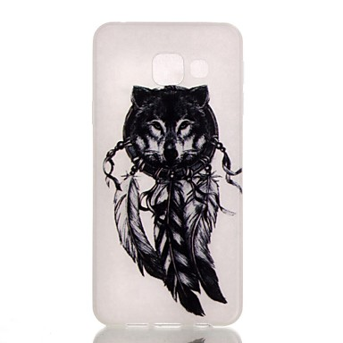 Samsung Galaxy Case Glow Dark / Frosted Pattern Back Cover Animal TPU A3(2016)
